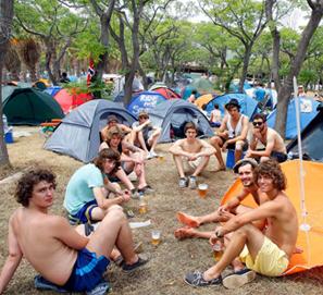 Se dice campin, no camping