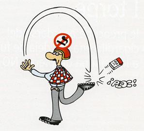 Dejar de fumar para torpes, de Geoffrey Molloy, con dibujos de Forges