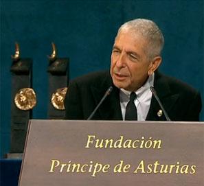 El discurso de Leonard Cohen en los Premios Príncipe de Asturias