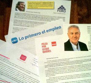 Faltas de ortografía, sintaxis y estilo en cartas elecciones 2011