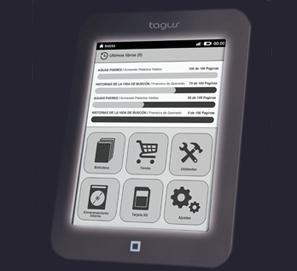 eReader Tagus Lux de Casa del Libro: ebook con luz