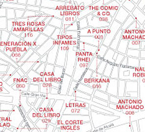 Mapa de Librerías de Madrid