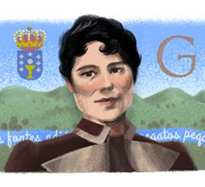 Rosalía de Castro, doodle del día