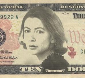Joan Didion, ¿a los billetes de 10 dólares?