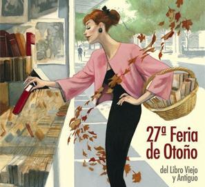 Cartel de Fernando Vicente para la Feria del Libro Antiguo