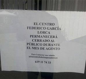 El Centro García Lorca de Granada, cerrado