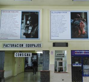 Paco Pestana: poesía en la estación de autobuses de Lugo