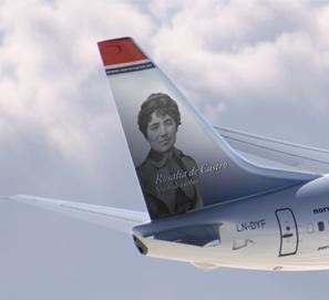 Rosalía de Castro, homenajeada por Norwegian