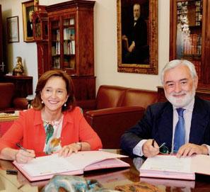 La RAE y la BNE firman un convenio de colaboración