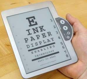La tinta electrónica para el libro del futuro