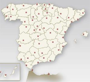 Mapas premios literarios, actividades y ferias del libro de España